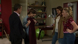 Paul Robinson, Amy Williams, Elly Conway, Xanthe Canning in Neighbours Episode 7482