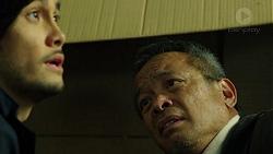 David Tanaka, Bradley Satchwell in Neighbours Episode 7483