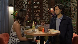Paige Novak, David Tanaka in Neighbours Episode 7484