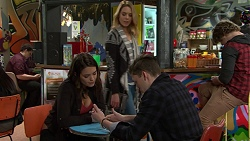 Paige Novak, Simone Bader, Nick Deng in Neighbours Episode 7484