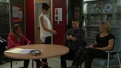 Sonya Mitchell, Victoria Lamb, Mark Brennan, Steph Scully in Neighbours Episode 7485