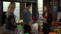 Simone Bader, Jack Callaghan, Paige Novak in Neighbours Episode 7485