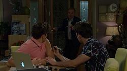 Angus Beaumont-Hannay, Karl Kennedy, Ben Kirk in Neighbours Episode 7485