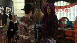Piper Willis, Angus Beaumont-Hannay, Elly Conway in Neighbours Episode 7486