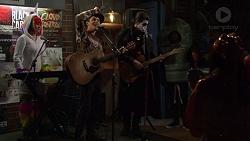 Xanthe Canning, Angus Beaumont-Hannay, Ben Kirk in Neighbours Episode 7486