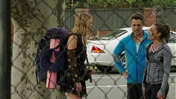 Simone Bader, Aaron Brennan, Paige Smith in Neighbours Episode 7488