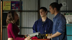 Paige Novak, Ben Kirk, Tyler Brennan in Neighbours Episode 7489