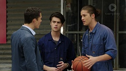 Jack Callaghan, Ben Kirk, Tyler Brennan in Neighbours Episode 7489