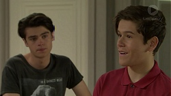 Ben Kirk, Angus Beaumont-Hannay in Neighbours Episode 7489