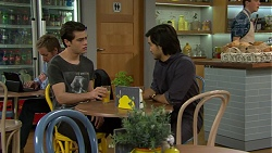 Ben Kirk, David Tanaka in Neighbours Episode 7490