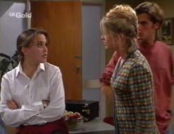Libby Kennedy, Danni Stark, Malcolm Kennedy in Neighbours Episode 2630
