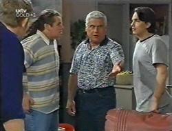 Neville, Toadie Rebecchi, Lou Carpenter, Darren Stark in Neighbours Episode 3001