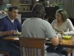 Karl Kennedy, Darren Stark, Libby Kennedy in Neighbours Episode 3001