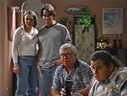 Libby Kennedy, Darren Stark, Lou Carpenter, Toadie Rebecchi in Neighbours Episode 3002