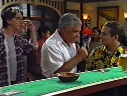 Darren Stark, Lou Carpenter, Toadie Rebecchi in Neighbours Episode 3002