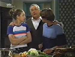 Hannah Martin, Harold Bishop, Paul McClain in Neighbours Episode 3004