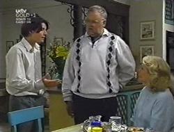 Paul McClain, Harold Bishop, Madge Bishop in Neighbours Episode 3005