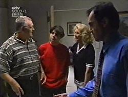 Harold Bishop, Paul McClain, Madge Bishop, Karl Kennedy in Neighbours Episode 3007
