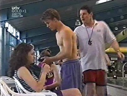 Caitlin Atkins, Billy Kennedy, Simon Butterworth in Neighbours Episode 3008