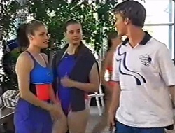Caitlin Atkins, Mandi Rodgers, Billy Kennedy in Neighbours Episode 3008