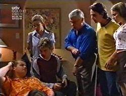Toadie Rebecchi, Anne Wilkinson, Billy Kennedy, Lou Carpenter, Darren Stark, Libby Kennedy in Neighbours Episode 3009