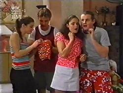 Anne Wilkinson, Billy Kennedy, Caitlin Atkins, Toadie Rebecchi in Neighbours Episode 3009