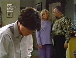 Paul McClain, Madge Bishop, Harold Bishop in Neighbours Episode 3010