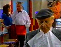 Anne Wilkinson, Harold Bishop, Fred Parkes in Neighbours Episode 3112