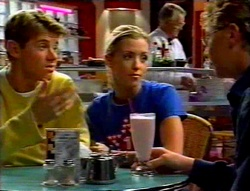 Lance Wilkinson, Amy Greenwood, Harold Bishop, Patrick Greenwood in Neighbours Episode 3113