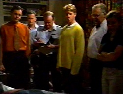 Karl Kennedy, Sgt. Brian Richter, Lance Wilkinson, Harold Bishop, Anne Wilkinson in Neighbours Episode 3113