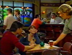Drew Kirk, Libby Kennedy, Ted Long, Toadie Rebecchi, Joel Samuels in Neighbours Episode 3115