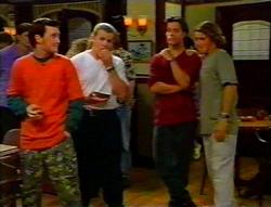 Ted Long, Toadie Rebecchi, Drew Kirk, Joel Samuels in Neighbours Episode 3115