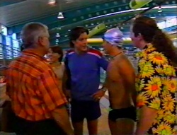 Lou Carpenter, Libby Kennedy, Drew Kirk, Joel Samuels, Toadie Rebecchi in Neighbours Episode 3115