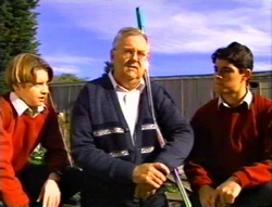 Tad Reeves, Harold Bishop, Paul McClain in Neighbours Episode 3414