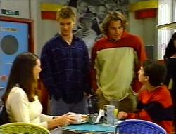Natalie Rigby, Billy Kennedy, Joel Samuels, Liam Rigby in Neighbours Episode 3415
