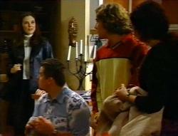 Natalie Rigby, Toadie Rebecchi, Joel Samuels, Charlie Thorpe in Neighbours Episode 3415