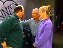 Philip Martin, Lou Carpenter, Ruth Wilkinson in Neighbours Episode 3415