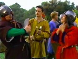 Toadie Rebecchi, Chris Bevege, Charlie Thorpe in Neighbours Episode 3415