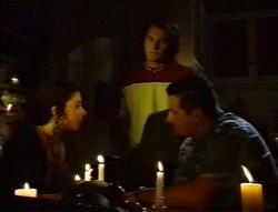 Charlie Thorpe, Joel Samuels, Toadie Rebecchi in Neighbours Episode 3416