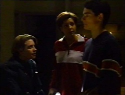 Tad Reeves, Hannah Martin, Paul McClain in Neighbours Episode 3416