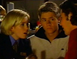 Amy Greenwood, Lance Wilkinson, Joel Samuels in Neighbours Episode 3416