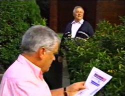 Lou Carpenter, Harold Bishop in Neighbours Episode 3416