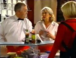 Harold Bishop, Madge Bishop, Amy Greenwood in Neighbours Episode 3416