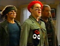 Joel Samuels, Lance Wilkinson, Toadie Rebecchi in Neighbours Episode 3416