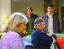 Madge Bishop, Tad Reeves, Harold Bishop, Paul McClain in Neighbours Episode 3441