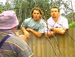 Jock Finch, Joel Samuels, Toadie Rebecchi in Neighbours Episode 3441