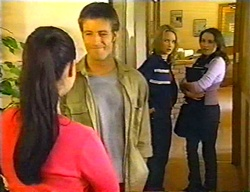Geri Hallet, Drew Kirk, Steph Scully, Libby Kennedy in Neighbours Episode 3442