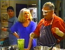 Paul McClain, Madge Bishop, Harold Bishop in Neighbours Episode 3442