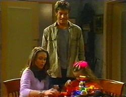 Libby Kennedy, Drew Kirk, Louise Carpenter (Lolly) in Neighbours Episode 3442