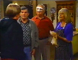 Tad Reeves, Barry Reeves, Harold Bishop, Madge Bishop in Neighbours Episode 3442